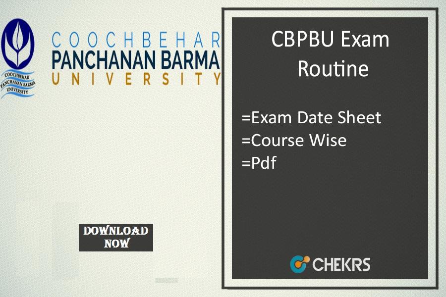 CBPBU Exam Routine 2019