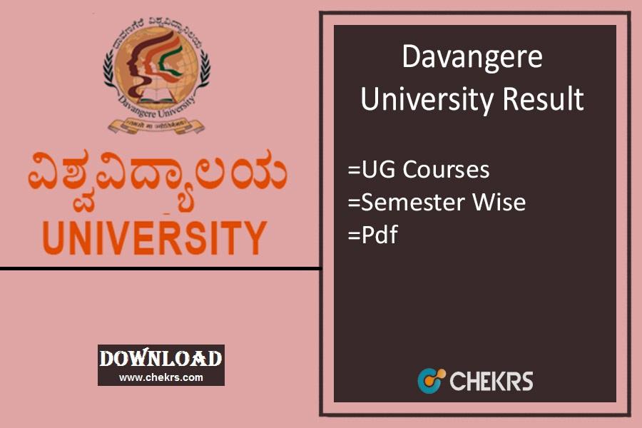 Davangere University Results 2021