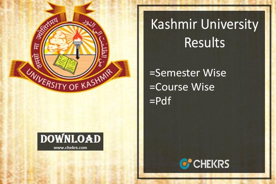Kashmir University Results 2020