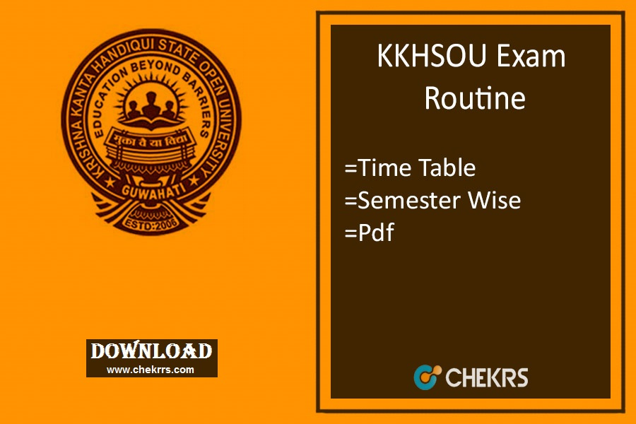 kkhsou exam routine 2019