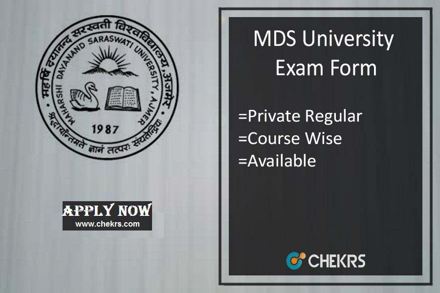 mdsu exam form mdsuajmer.ac.in