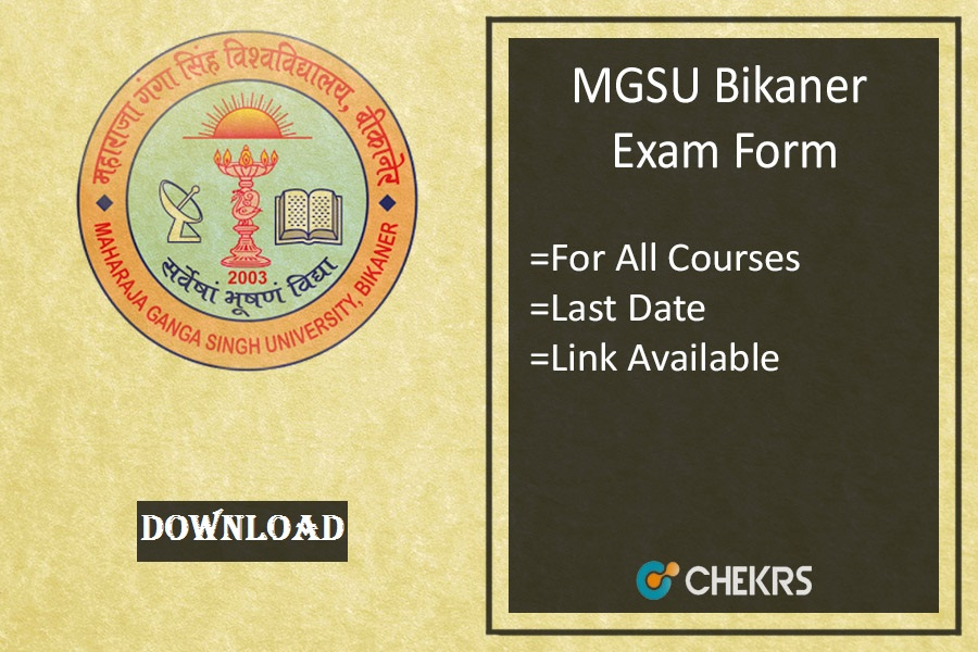 mgsu exam form mgsubikaner.ac.in