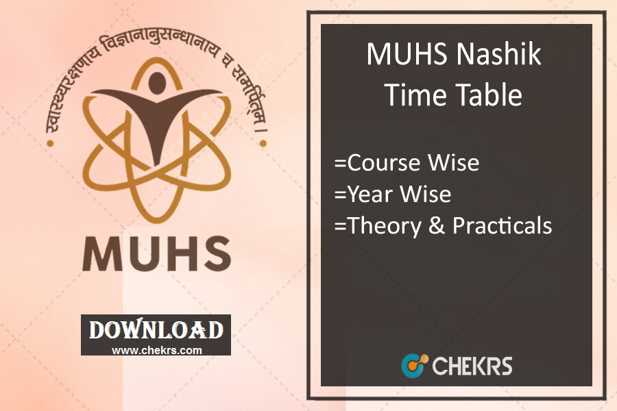 MUHS Time Table Winter 2019- {Released} MBBS BDS BAMS BHMS Exam Date