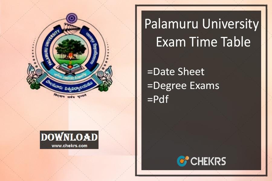 palamuru university exam time table 2020