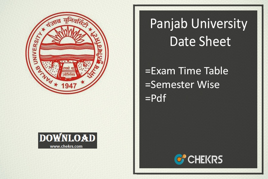 Panjab University Date Sheet 2019