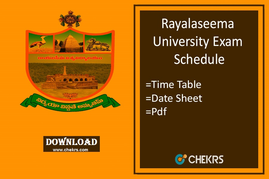 Rayalaseema University Time Table 2019
