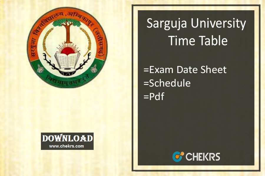 sarguja university time table 2020