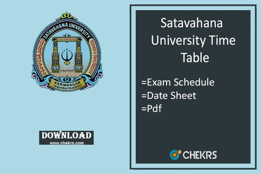 Satavahana University Degree Time Table 2019