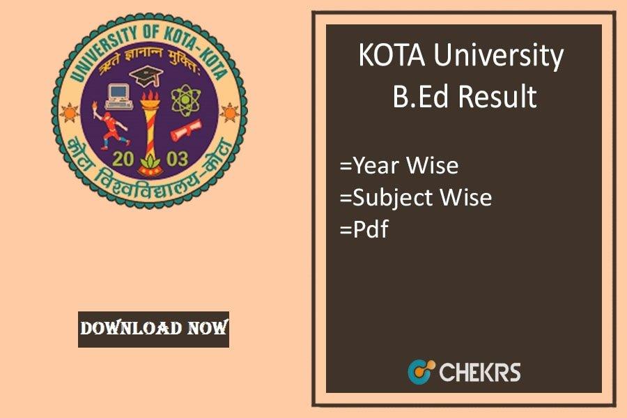 KOTA University BED Result 2020