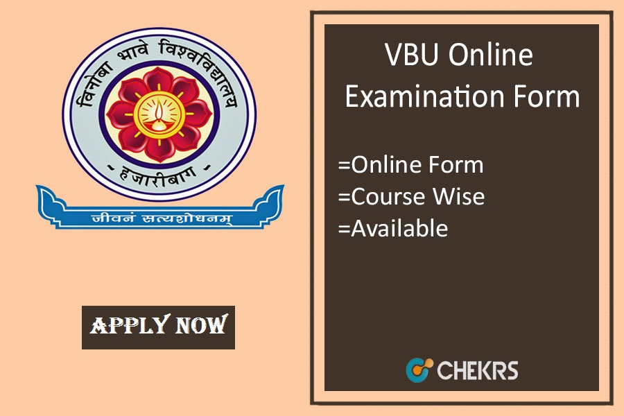 vbu exam form 2019 vbu.ac.in Vinoba Bhave University