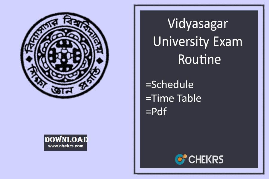 vidyasagar university exam routine 2021