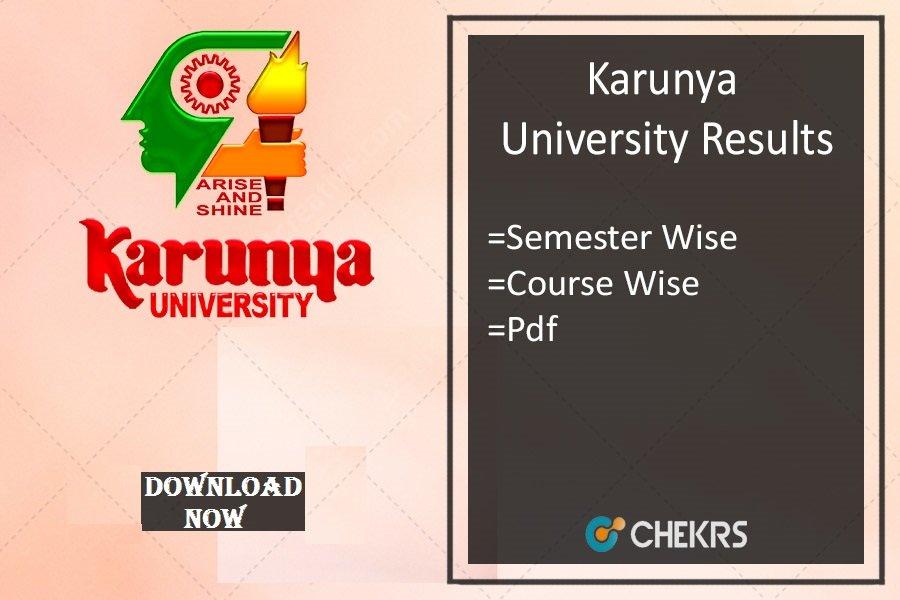 karunya university results 2021