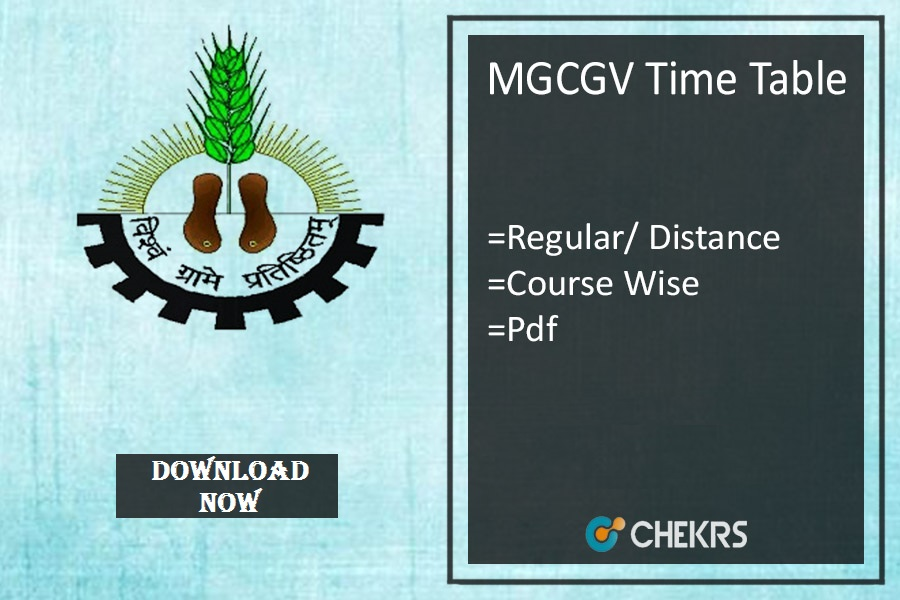 mgcgv time table 2020