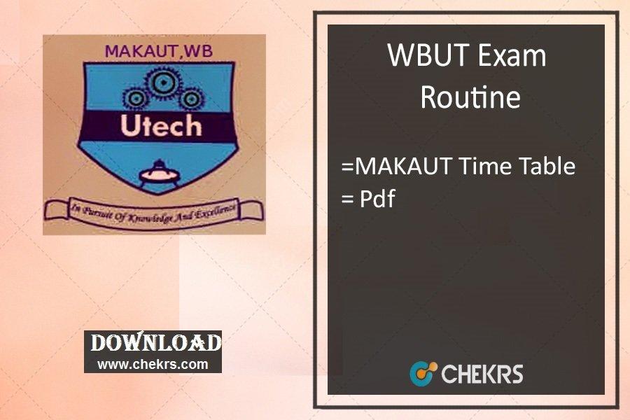 wbut exam routine 2021