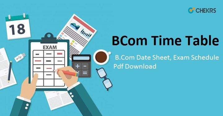 b.com time table 2020
