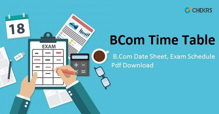 b.com time table 2021