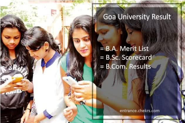 Goa University Result 2020