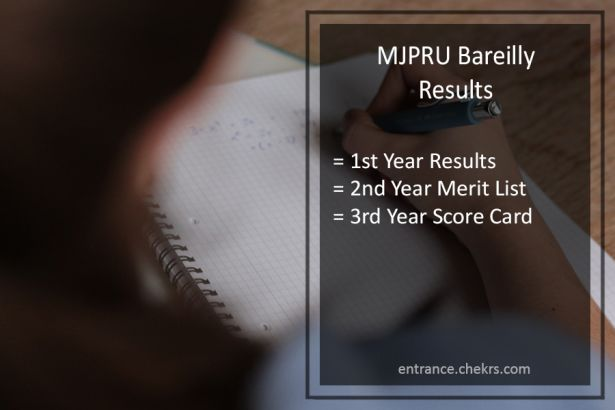 MJPRU Bareilly Result 2019, download Rohilkhand University UG Merit List BA B.SC B.Com for Part 1, 2, 3, get MJP MA, M.SC, M.Com marksheet 1st, 2nd year @ mjpru.ac.in