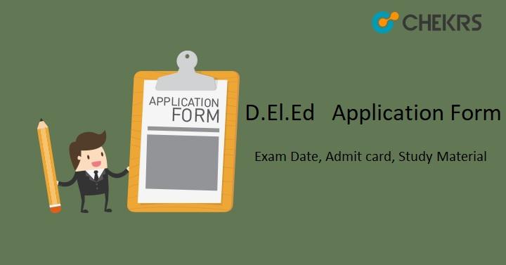 D.El.Ed Application Form 2021