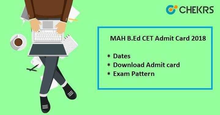 Maharashtra B.Ed CET Admit Card 2020