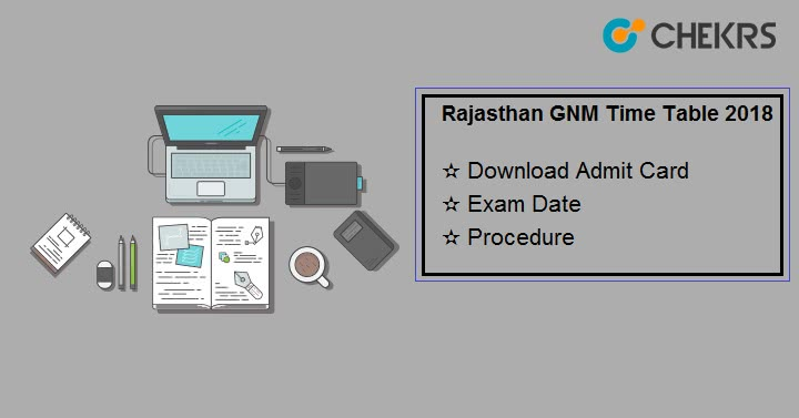 Rajasthan GNM Time Table 2019 - {Released} Admit Card, 2nd Year Exam