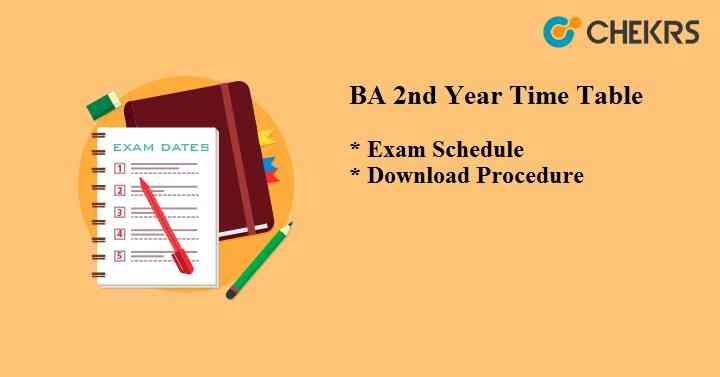 BA 2nd Year Time Table 2021
