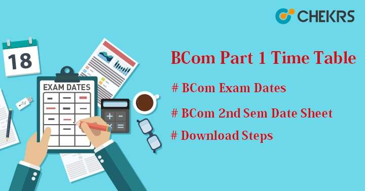 BCom 1st Year Time Table 2021