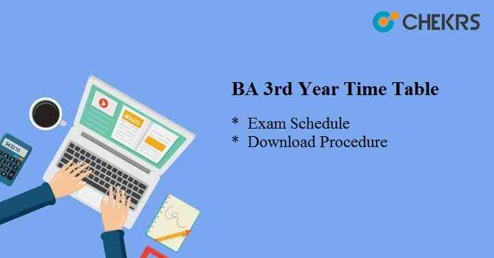 BSC 3rd Year Time Table 2021