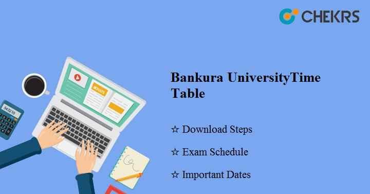 Bankura University Time Table 2020