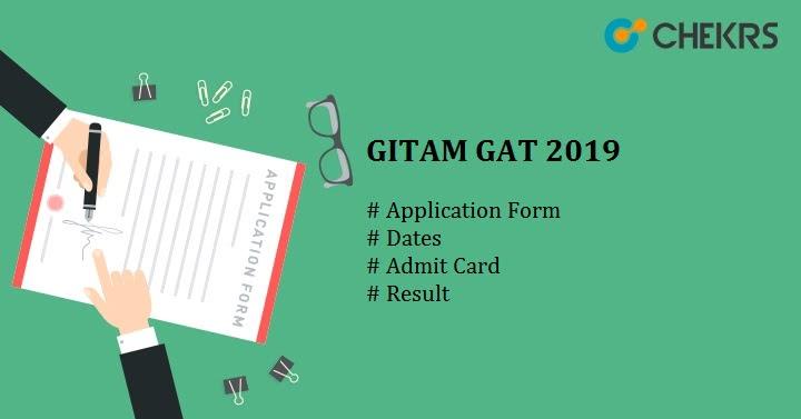 GITAM GAT 2019 : Result {Released}Application Form, Eligibility