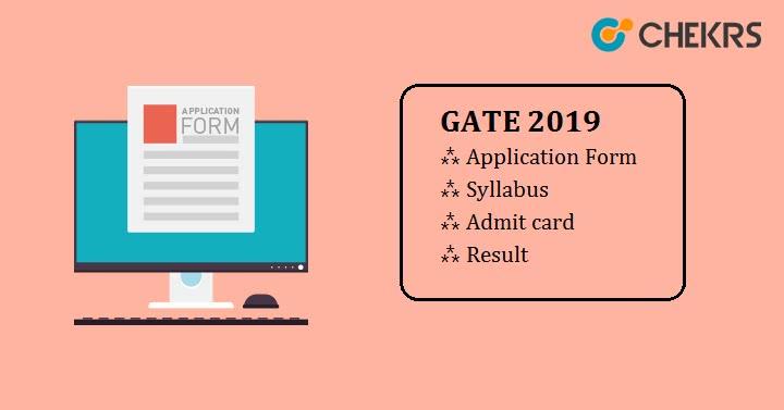GATE 2019 Exam Application Form