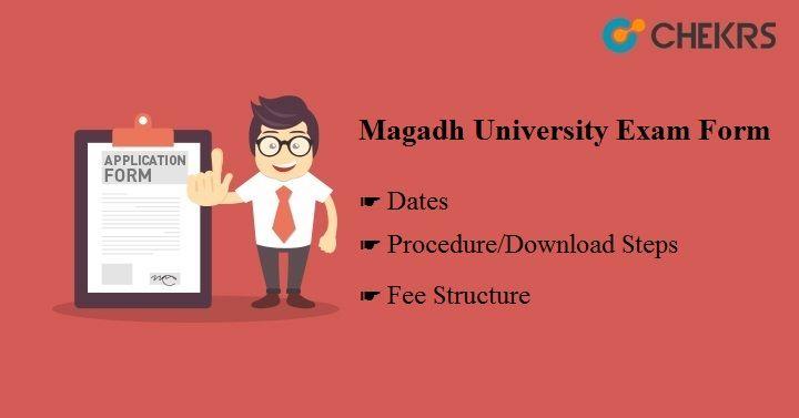 Magadh University Exam Form MU University Form magadhuniversity.ac.in