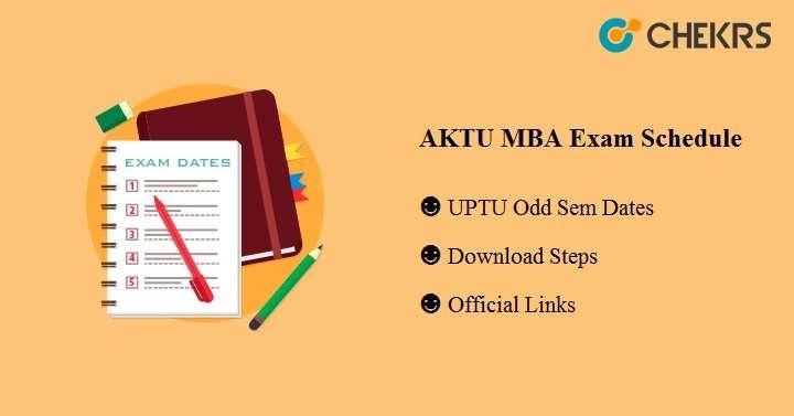 AKTU MBA Exam Schedule 2019 - UPTU 1st 2nd 3rd 4th 5th Sem