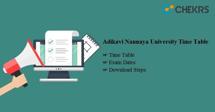 Adikavi Nannaya University Time Table 2020