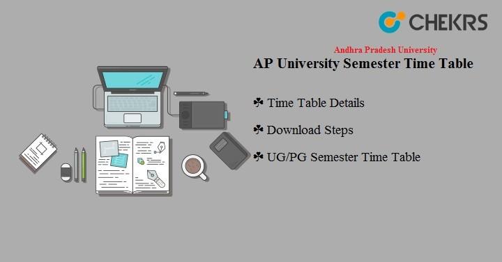 Andhra Pradesh University Semester Time Table 2020