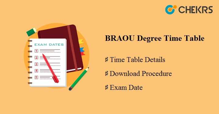 BRAOU Degree Time Table 2020
