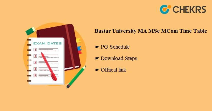 Bastar University MA MSC MCOM Time Table 2020