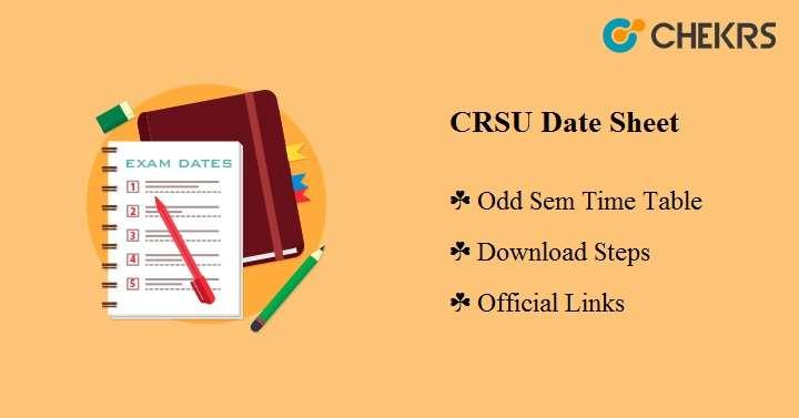 CRSU Date Sheet 2020