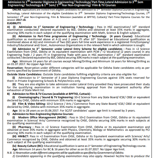 Odisha DET Application Form