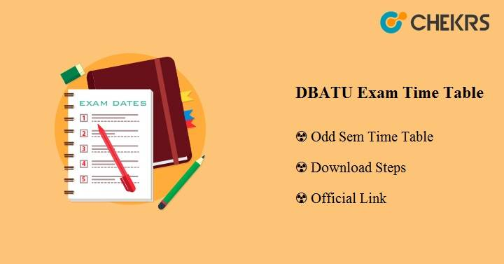 DBATU Exam Time Table 2020
