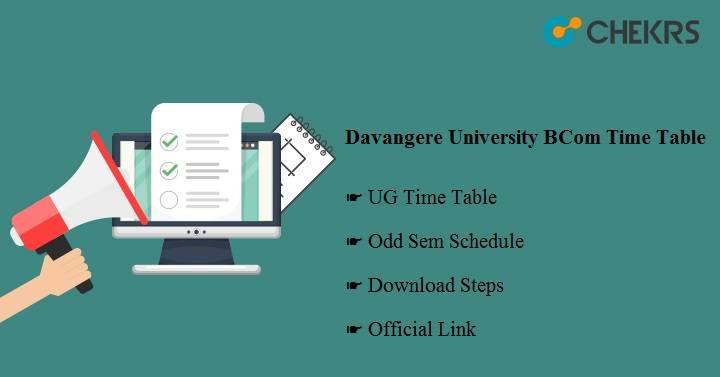 Davangere University BCom Time Table 2020