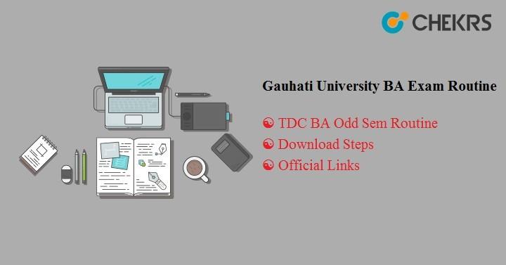 Gauhati University BA Exam Routine 2021