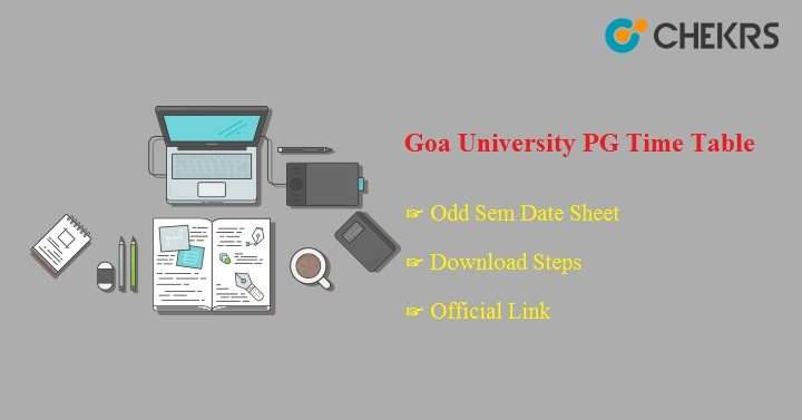 Goa University PG Time Table 2020