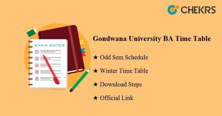 Gondwana University BA Time Table 2020