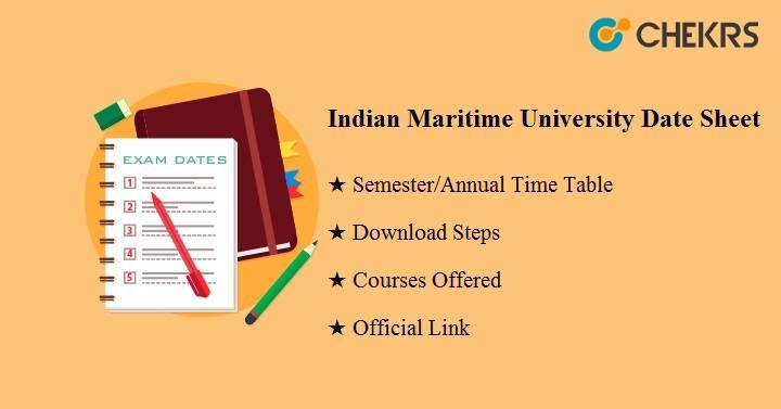 indian maritime university date sheet 2020
