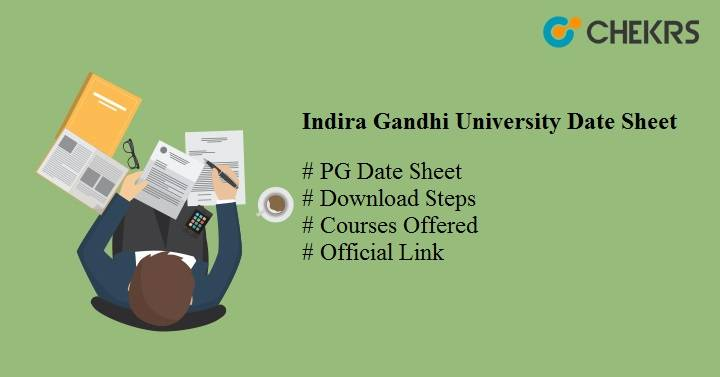 Indira Gandhi University PG Date Sheet 2021