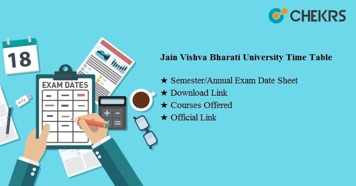 jain vishva bharati university time table 2020