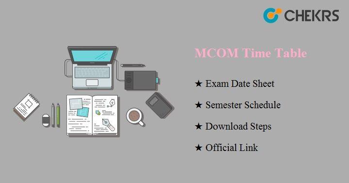 mcom time table 2021