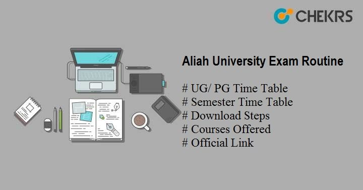 aliah university exam routine