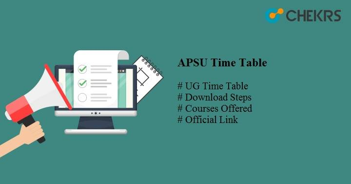 apsu time table 2019
